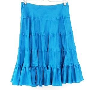 Lauren Ralph Lauren Skirt Silk Blue sz S